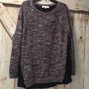 Black mixed contrast sweater